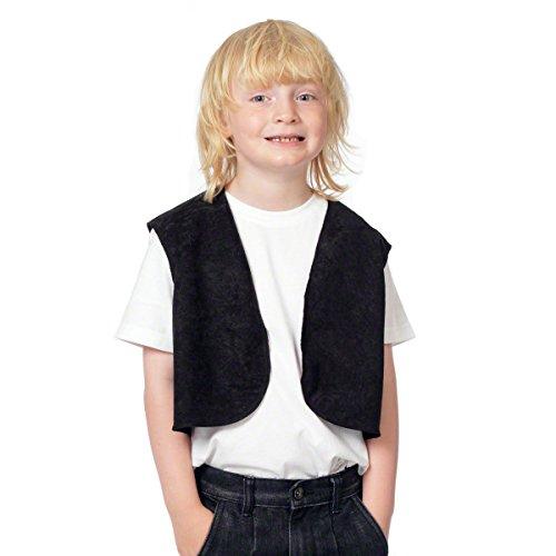 Preisvergleich Produktbild Schwarz Viktorianisches Weste Kostüm für Kinder.Einheitsgröße (3-9 Jahre).
