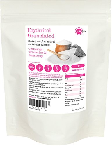 PINK SUN Erythritol Zuckerersatz 1kg Zero Kalorien Erythrit Zuckeraustausch - Sugar Replacement Alternative Zero Calories - Bulk Buy 1000g
