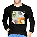 Photo de Heyuanqinkeji Mens Comfortable Logo of Gotye Making Mirrors Long Sleeve T Shirts par Heyuanqinkeji