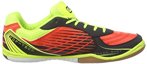 Lotto Tacto 500 Id, Chaussures de futsal homme Multicolore - Mehrfarbig (RED WAR/YLW SAF)