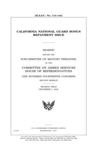 California National Guard bonus repayment issue