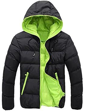 FNKDOR Chaqueta de abrigo con capucha y capucha gruesa de invierno con capucha y capucha gruesa casual de los...