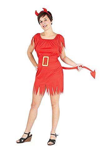 Damen Halloween Erwachsene Teufel Siren Kostüm Onesize (EUR 36-42) (Onesize (EUR 36-42), - Halloween Siren