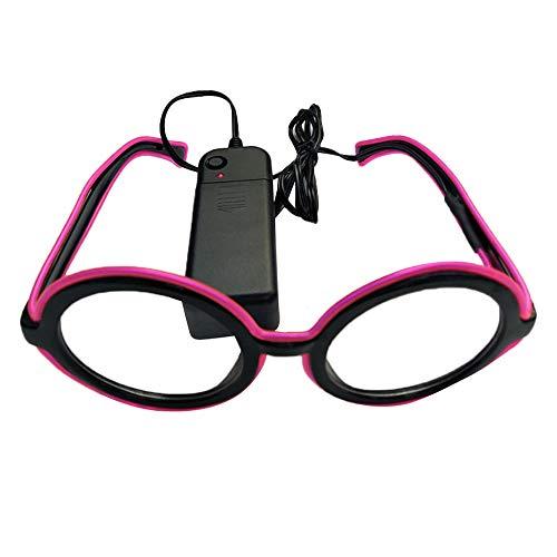 PinkLu GläSer Damen LED-Lichtbrille Neues Design Gebogene Linse Beliebt Mode Temperament Sommer Neuer HeißEr Verkauf Purpurrote GrüNe Blaue GläSer