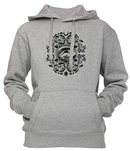 Terzo occhio unisex uomo donna felpa con cappuccio pullover grigio dimensioni s unisex men's women's hoodie grey small size s