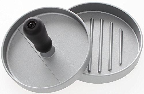 Hamburgerpresse für perfekte Patties   Profi Burgerpresse aus 100% Aluguss   Ø 12cm   W&Z