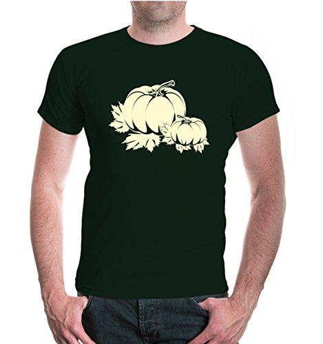 buXsbaum® T-Shirt Cucurbita Bottlegreen-Beige