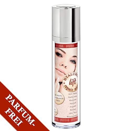 Sensitiv * ohne Parfum * Hyaluron- Lift/Nachtcreme- Repair night cream- 100% Vegan, 50 ml * - Night Repair Cream