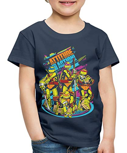 tles Attitude for Action Kinder Premium T-Shirt, 134/140 (8 Jahre), Navy ()