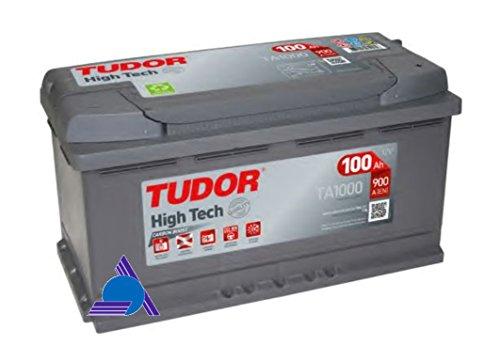 Batería para coche Tudor Exide HIGH-TECH 100Ah, 12V. Dimensiones: 353 x 175 x 190. Borne derecha.