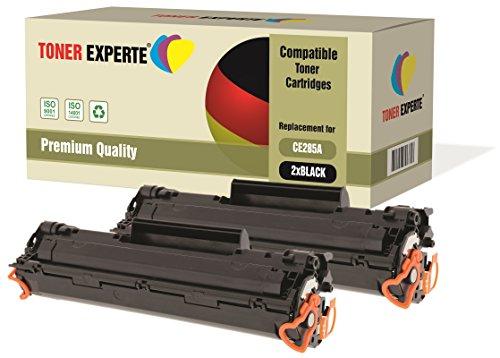 Kit 2 toner experte® ce285a 85a toner compatibili per hp laserjet pro p1102, p1102w, m1210, m1212, m1212nf, m1213nf, m1217nfw, m1130, m1132, m1134, m1136, p1100, p1101, p1103, p1104, p1104w, p1106, p1108
