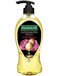 Palmolive Body Wash Luminous Oils Invigorating, 750ml Pump, Shower Gel with 100% Natural Macadamia Oil & Peony Extracts