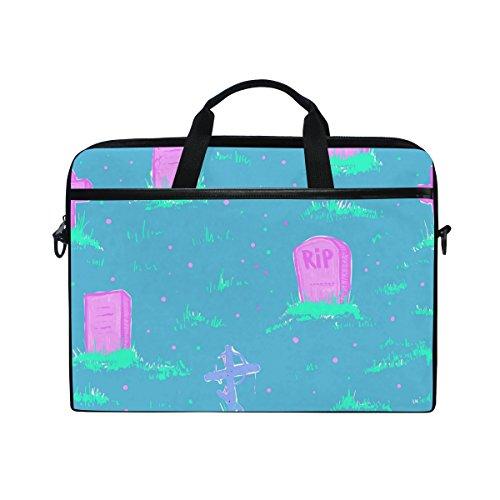 Gravis-laptop-taschen (Ahomy Graffiti Grave 14-15,4 Zoll Multifunktionale Stofftasche Wasserdicht Laptop Tasche Aktentasche Schultertasche Messenger Bag)