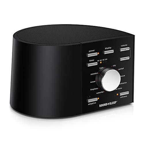 elity Schlaf Sound Maschinen mit echten nicht wiederholenden Naturklängen, Lüftergeräusche, Weißem Rauschen und adaptiver Sound-Technologie. Global Edition EU-, UK- und US-Steckern ()
