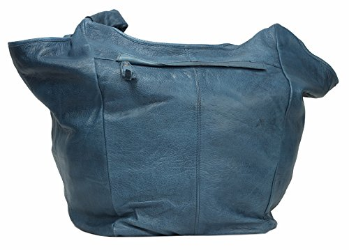 Greenburry Stainwashed Shopper Borsa tote pelle 30 cm Blue