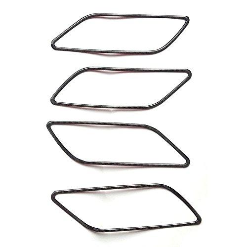 Macxy 4x Carbon-Faser-Auto-Innen Mzor Griff Bowl Abdeckrahmen Trim-Aufkleber f¨¹r Audi A3 2013-2017 Car Styling