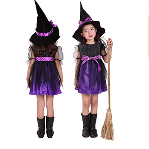 alloween Kostüm Cosplay Kostüm Kleines Mädchen Halloween Kinderkleidung Hexenkostüm,Style2,M ()