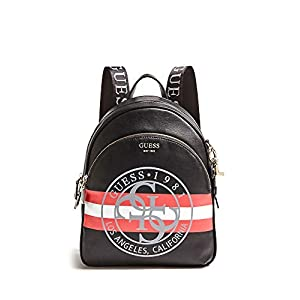 Guess – Detail Large Backpack, Mujer, Multicolor (Black Multi), 28x34x12 cm (W x H L)