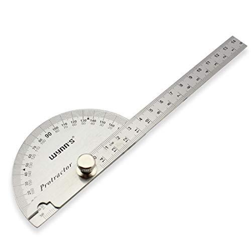 Edelstahl 0-180° rund Kopf Winkelmesser-Winkel Finder Swing Arm Goniometer Handwerker Lineal Maschinist Werkzeug -