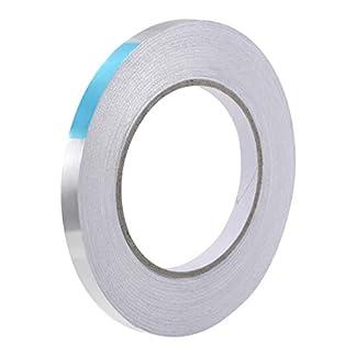 Sourcingmap Cinta adhesiva resistente al calor – Cinta de transferencia de calor de alta temperatura de aluminio 10 mm x 50 m (164 pies)