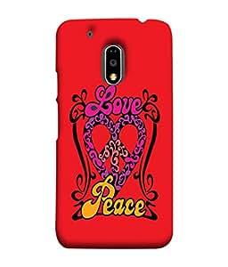 Fuson Designer Back Case Cover for Moto E3 Power :: Motorola Moto E3 Power (Heart Shape Art Royal Carvings)