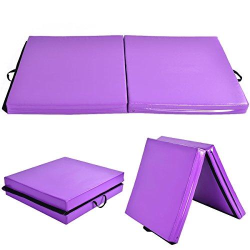 COSTWAY Weichbodenmatte Gymnastikmatte Yogamatte Turnmatte Klappmatte Fitnessmatte 2 Fach klappbar 175x95x10CM