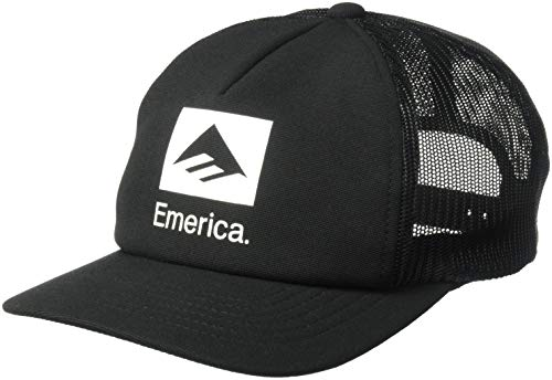 Emerica Herren Brand Combo Trucker Baseball Cap, schwarz, Einheitsgröße