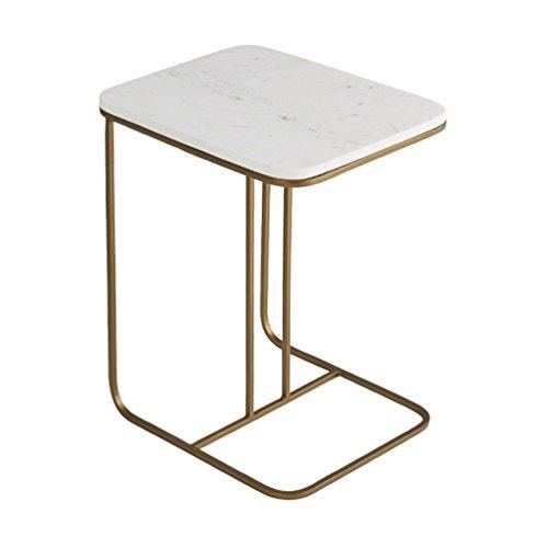 MDBLYJ Laptop-Tisch Couchtisch Wohnzimmer Dekoration kleine quadratische Schmiedeeisen Sofa Ecke mehrere Nachttisch Lesetisch Halterung (Farbe : 50 * 38 * 58cm) - Quadratische Glas-plattform