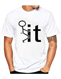 K-youth® Camiseta Hombre, Gatos Ninja Impresión Camiseta Para Hombre Tee Cuello Redondo Tops Camisa Ropa Hombre Barata…
