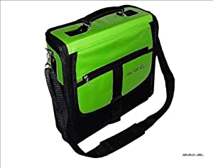 Xbox 360 Slim Green & Black Deluxe Console Carry Bag/Case. Also for In Car Use.