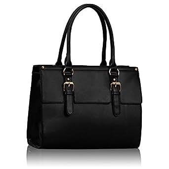 Damen Handtasche schwarz Leder Stil Handtasche Damen Ärzte Tasche KCMODE
