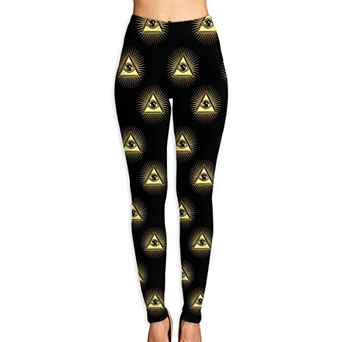 VAICR NCRSPIC Strumpfhosen Hosen,Personalized All Seeing Eye of God Women's Printed Leggings Pants For Sports Yoga Workout Gym Running -