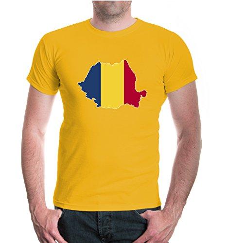 buXsbaum® T-Shirt Rumänien-Shape Sunflower-z-direct