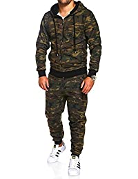 MT Styles ensemble pantalon de sport + sweat-Shirt jogging survêtement camouflage MA-2116