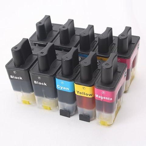 10x Compatible tinta cartuchos reemplazo for BROTHER LC900 / LC950 (4x negro & 2x cian / magenta / amarillo)