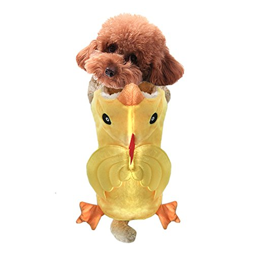 Huhn Pet Kostüm - NACOCO Hund Kostüm Huhn Hoodies Haustier Kleidung Halloween Party für Katze und Puppy (M)