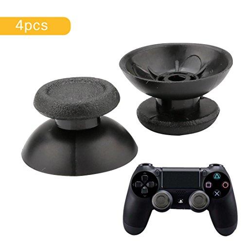 A-szcxtop 2Paar Kunststoff Thumbsticks Pilz Kopf Form Joystick Kappen/Griff Rocker Gap Cover Ersatzteile für PS4Controller-Schwarz