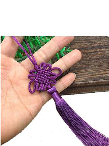 -Tassel Chinese Knot Pendant Home Living Room Bonsai Dekoration Chinesischer Stil Features-Dunkles Purpur ()