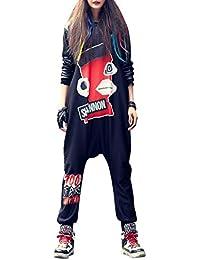 Galleria fotografica ELLAZHU Modo delle signore senza maniche hippie harem tuta della tuta GK202