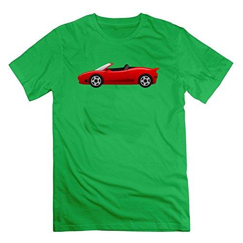 Herren Vintage Porsche grau beliebtes normalen T-Shirt Shirts Small grün -