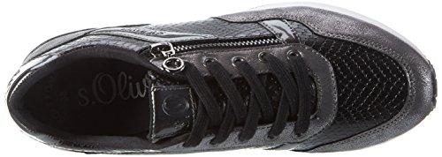 s.Oliver 23655, Sneakers Basses Femme Noir (BLACK COMB 98)