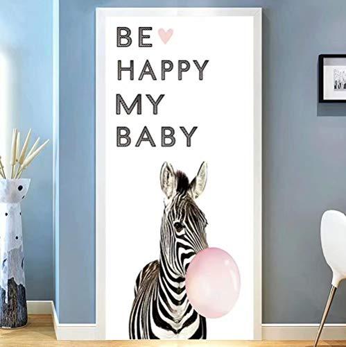 Aufkleber Zebra-Ballon 95X215CM Wandaufkleber Wandbild PVC Dekoration dreidimensional Tapete europäisch Geschenk selbstklebend Landschaft Kunst Zuhause ()