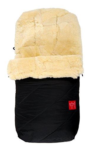 "Kaiser Fußsack \""Paat\"", echtes Lammfell Medizin (keine Lammwolle), schwarz"
