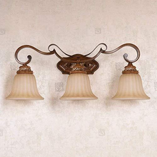 Wandleuchte Spiegel Vordere Scheinwerfer Badezimmer Beleuchtung Bügeleisen Antike Lampen Retro Licht Kämme Setzt Die Badezimmer Wand Lampe Mode (Farbe: Braun)