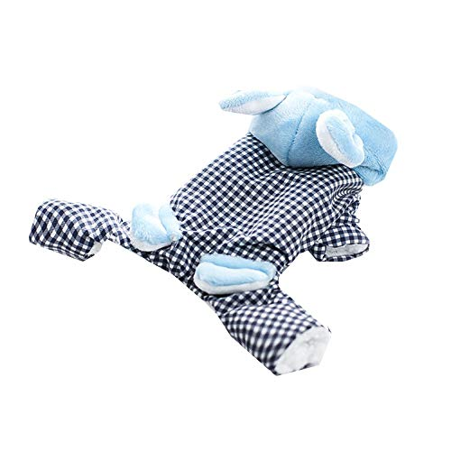Kaninchen Kostüm Dog - JIAQING Kostüm Princess Series Teddy Shisch Dog Plaid Rabbit Pet Kleidung,Blue(S)