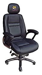 NCAA LSU Tigers Leather Office Chair