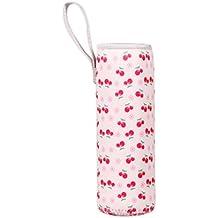 termo taza bolso - TOOGOO(R) 500ML caliente termico aislamiento termico botella de agua bolsas termo taza bolso (cereza)