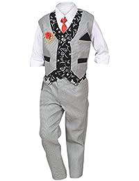 ahhaaaa Boy's Blended Waistcoat, Shirt and Trouser Set