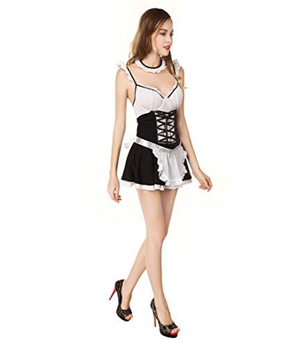 Kostüm Alte Dienstmädchen - LLY Halloween Cosplay Kostüme sexy Versuchung Dienstmädchen Kleid Rollenspiel Kostüm, White