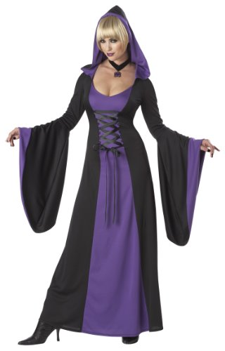 Adult Deluxe Hooded Robe PURPLE - Extra Large